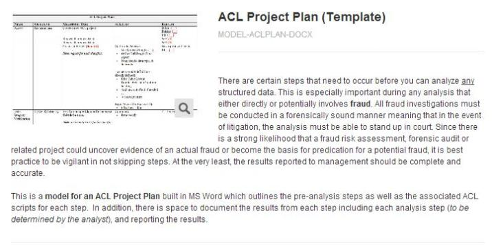Product - ACL Project Plan (template)