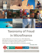 Taxonomy of Fraud in Microfinance