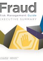 COSO Fraud Risk Management Guide (September 2016)
